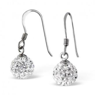 """Stříbrné náušnice visací s krystaly """"Hayden"""". Ag 925/1000"""